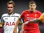Aston Villa, Tottenham, Liverpool and Hull are in action