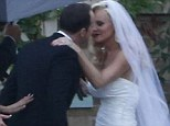 Jenny McCarthy is every inch the glamorous bride as she marries Donnie Wahlberg in an intimate ceremony in her hometown of Chicago