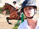 Kaley Cuoco slips into tight jodhpurs as she saddles up to show off impressive show jumping moves atop beloved horse Stevie