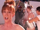 'Anything for the cause!' Kathy Griffin strips naked for ALS Ice Bucket Challenge with A.J. McLean and Aubrey Plaza
