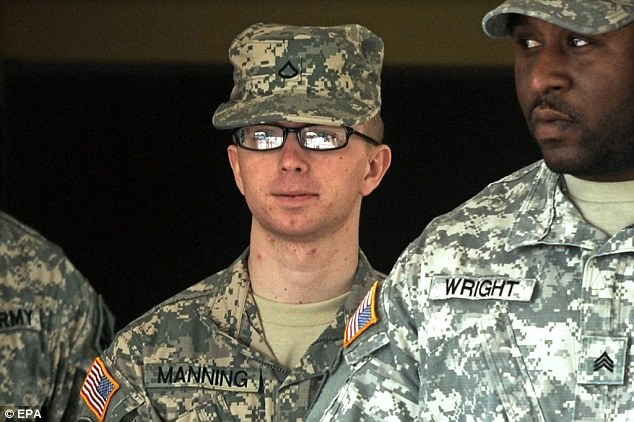 Defence Secretary Chuck Hagel approved a treatment plan for Manning (pictured) that includes allowing her to dress as a woman, but the former US army private claims she has only received 'lip treatment'