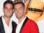 Lance Bass re-proposes to fiancé Michael Turchin on the one-year anniversary of their engagement and presents him with a stunning new ring