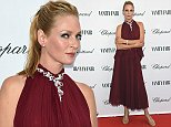 VENICE, ITALY - AUGUST 31:  Uma Thurman attends the Chopard And Vanity Fair Present 'Backstage At Cinecitta' Exhibition - Red Carpet - 71st Venice Film Festival at Cipriani Hotel on August 31, 2014 in Venice, Italy.  (Photo by Venturelli/Getty Images)