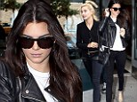 Influencing each other's style? Kendall Jenner headed out with BFF and fellow model Hailey Baldwin for the second time on Saturday, sporting coordinated edgy-chic ensembles