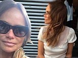 'I'm not a blonde anymore!' Kristin Chenoweth reveals her new dark hair colour in a series of Twitter pics
