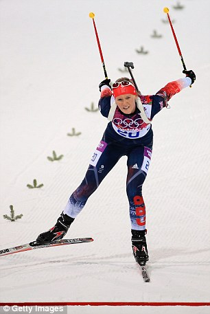 The Team GB star, who became the first British female to compete in the Olympic biathlon in Russia, asked for a restraining order against Laidler after he threatened to 'drag her out by the hair'