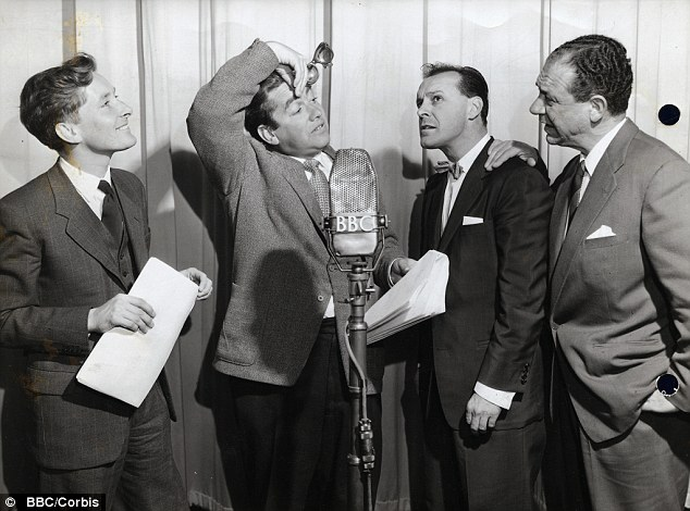 Kenneth Williams (left) joined the cast of Hancock's Half Hour in the second series joining the Lad Himself, Bill Kerr and Sid James