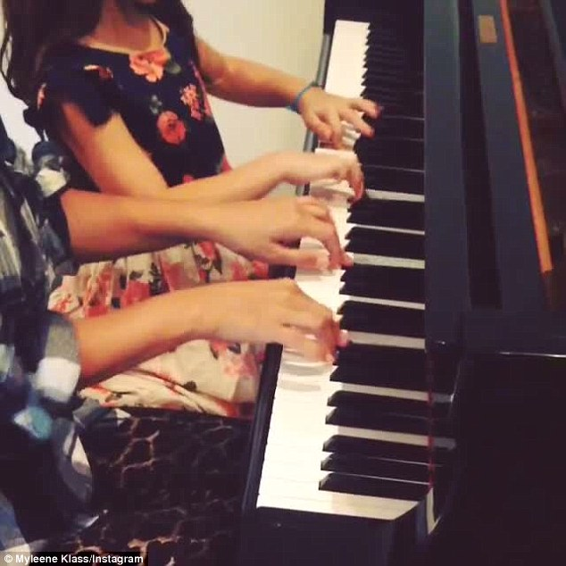In sync: The classical musician shared the video on her Instagram