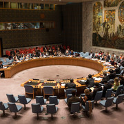 The United Nations Security Council meets about the ongoing Ukrainian-Russian conflict