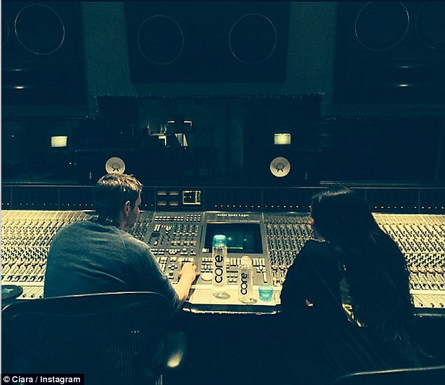Back in the studio: The Body Party beauty - born Ciara Princess Harris - is now focusing on motherhood and recording her sixth studio album alongside producers like Dr. Luke (L), Boi-1da, and Katalyst