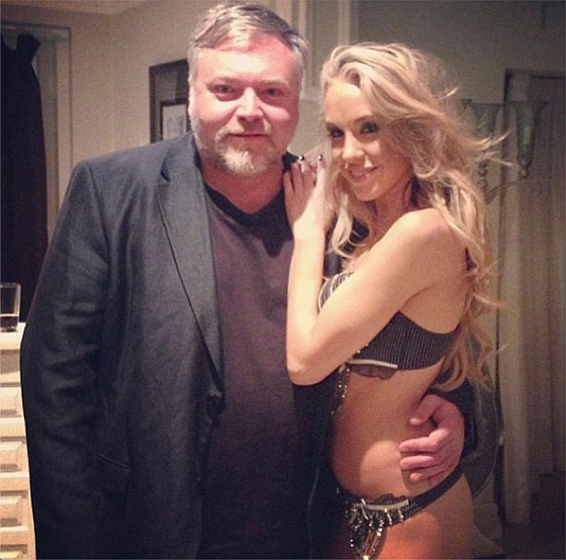 Parents to be? Kyle posing with his girlfriend Imogen Anthony, who recently hinted at a longing for motherhood
