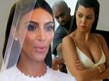 Beautiful bride: Kim Kardashian walked down the aisle to marry Kanye West on Monday's season finale of Keeping Up With The Kardashians