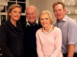 'I don't think very old age can be very nice': Mary Berry with her husband Paul Hunnings and their children Annabel and Thomas