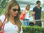 """Picture Shows: Sofia Vergara, Joe Manganiello  September 01, 2014    """"Modern Family"""" star Sofia Vergara and her """"True Blood"""" boyfriend Joe Manganiello are spotted catching a flight out of Cabo San Lucas, Mexico after enjoying a romantic vacation together.     Sofia recently gushed over Joe saying, """"We've been going out for just like two months and a half and he's a really funny guy, which is something really important for me and very nice guy.""""     Exclusive - All Round  UK RIGHTS ONLY    Pictures by : FameFlynet UK    2014  Tel : +44 (0)20 3551 5049  Email : info@fameflynet.uk.com"""