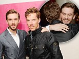 """LONDON, ENGLAND - SEPTEMBER 01:  Dan Stevens and Benedict Cumberbatch attends a Gala Screening of """"The Guest""""at Soho Hotel on September 1, 2014 in London, England.  (Photo by Stuart C. Wilson/Getty Images for Icon Film Distribution)"""
