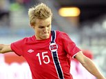 epa04371166 15 year old Martin Oedegaard, Norwayís youngest player ever in the national football team, in action during a soccer match against United Arab Emirates in Stavanger, Norway, 27 August 2014.  EPA/Terje Pedersen NORWAY OUT