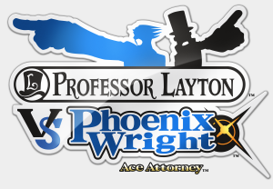 N3DS ProfLaytonVsPhoenixWright Logo 300x208 E3 2014 Professor Layton vs. Phoenix Wright: Ace Attorney (3DS) English Logo, Box Art, Artwork, Screenshots, & Trailer