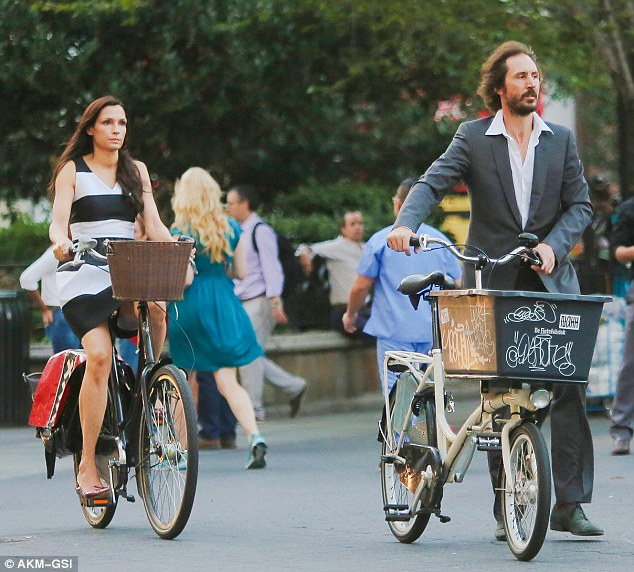 Reprising her role: The actress - seen out for another cycle with Cole on Tuesday - also recently wrapped up filming the third installment of the Taken series, set for release on January 9, 2015