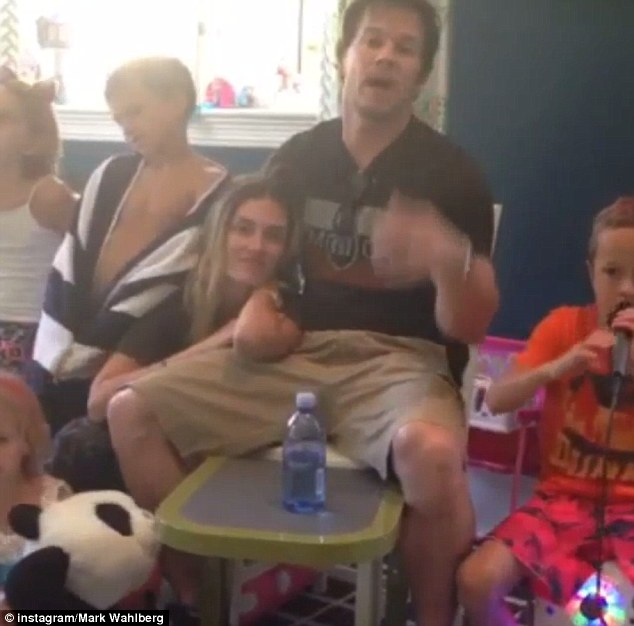'Congratulations': The actor and his family, including wife Rhea Durham, sent their best wishes from their Los Angeles home amid reports they failed to attend due to bad feelings towards Jenny