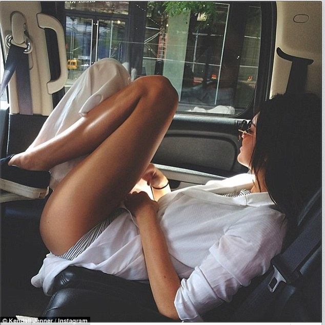 Show off! Kendall shared a sultry photo of her bronzed legs on Instagram on Saturday