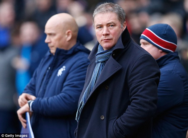 Worrying times: Rangers manager Ally McCoist be keeping a close eye on his side's financial worries