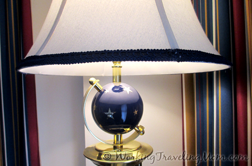 Nautical touches in the Yacht Club Resort guest rooms