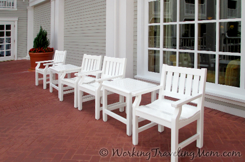 Patio chairs exterior Disney World Yacht Club Resort