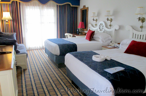 Disney World Yacht Club Resort guest room