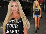 Defiant: Nicola McLean appeared to send a message to her ex Tom Williams following allegations he cheated on her