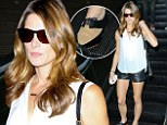 No heels required! Ashley Greene puts on leggy display in a pair of racy leather hotpants and FLAT shoes