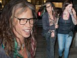 Father and daughter: Steven Tyler headed out for dinner with his daughter Mia and her new boyfriend on Tuesday in New York City