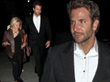 Silver Linings Playbook actor Bradley Cooper, 39, escorted his mother and older sister following an appearance at GQ's Men Of The Year awards show. Still dressed in his sharp black suit, the former Sexiest Man Alive kept a protective hand out for mom Gloria Campano and sibling Holly as they exited the restaurant