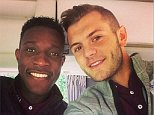 Image posted on Instagram by Jack Wilshere with Danny Welbeck jackwilshereBig welcome to my boy Welbz....great player for a great club! Another English lad! #Gooner