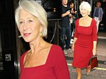 Mandatory Credit: Photo by Beretta/Sims/REX (4090238a)  Helen Mirren  Celebrities on their way to GQ Men of the Year Awards, London, Britain - 02 Sep 2014