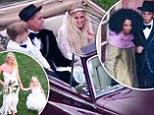 'The wedding went perfectly!' Diana Ross gushes about son Evan's big day with bride Ashlee Simpson, while Jessica and Maxwell were beautiful bridesmaids