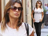 'It's always nice to come home': Elisabetta Canalis seen taking a stroll in her native country two weeks ahead of her Italian destination wedding