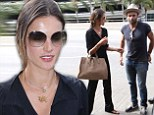 Business or pleasure? Alessandra Ambrosio and her fiancé Jamie Mazur jet out of LAX on Wednesday