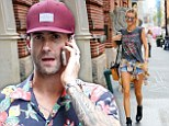 On the fast track! Adam Levine and Behati Prinsloo are rocker chic in denim as they dash out on couple's outing in NYC