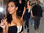 3 September 2014. Kim Kardashian and Kanye West leave their London hotel to go to BBC Radio 1 studio. Here: Kim Kardashian Credit: Ben Eade/GoffPhotos.com   Ref: KGC-102