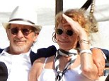 Still going strong after more than 20 years! Steven Spielberg and wife Kate Capshaw get cosy on boat trip in Portofino