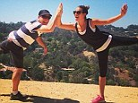 Daddy's girl! Lea Michele celebrates father's birthday with a hike after jetting back home from holiday in Mexico