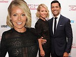 Racy Ripa! Ms Kelly steals the spotlight in sheer black lace dress at series premiere party with husband Mark Consuelos
