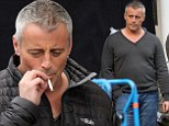 Matt LeBlanc is a silver fox as he takes a smoke break while shooting Episodes in London