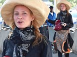 Uma Thurman, 44, landed in New York City on Tuesday after spending the weekend in Venice, Italy for the 71st Venice Film Festival