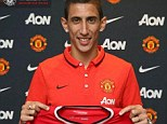 New recruit: Manchester United announced the signing of Di Maria on Tuesday night