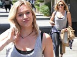 Grunge gal: Hilary Duff dressed down, as she stepped out in Los Angeles on Wednesday