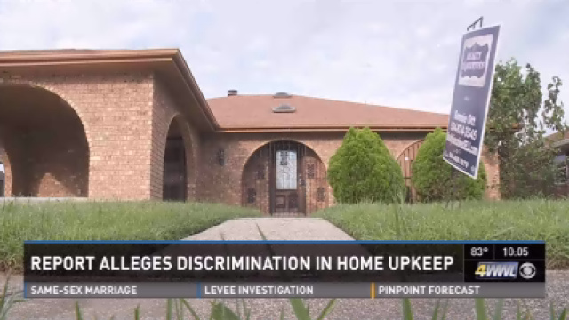 National housing agency alleges discrimination in home upkeep
