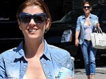 Not a Bad Judge of fashion! Kate Walsh showcases her cleavage in low cut shirt on relaxing day out in Los Angeles