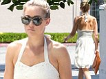 Bridal buzz: Lauren Conrad wore a wedding white dress to go shopping on Melrose Blvd in West Hollywood, California on Tuesday