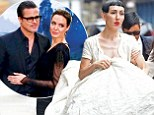 I do, too! Angelina Jolie's ex lesbian lover Jenny Shimizu marries socialite Michelle Harper just days after actress wed Brad Pitt